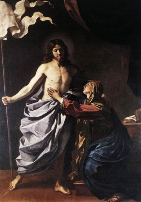 Cristo risorto appare a sua madre for La sua e la sua costruzione