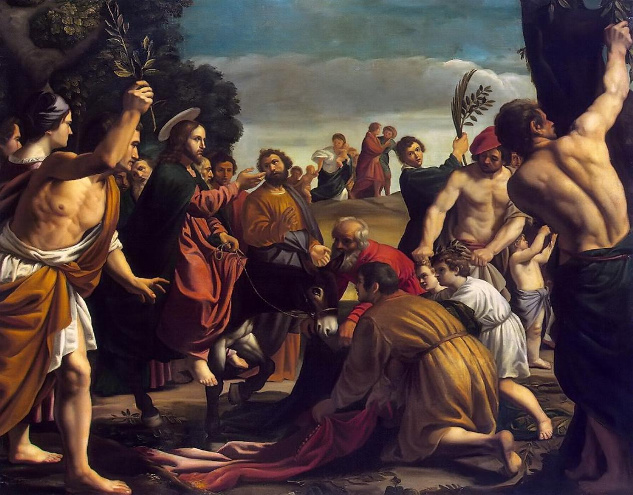 Gesù entra a Gerusalemme P. Orrente.jpg