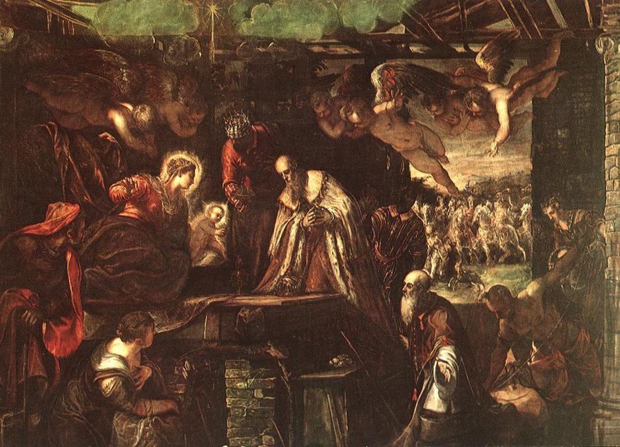 """Resultado de imagem para Tintoretto """"La natività"""""""